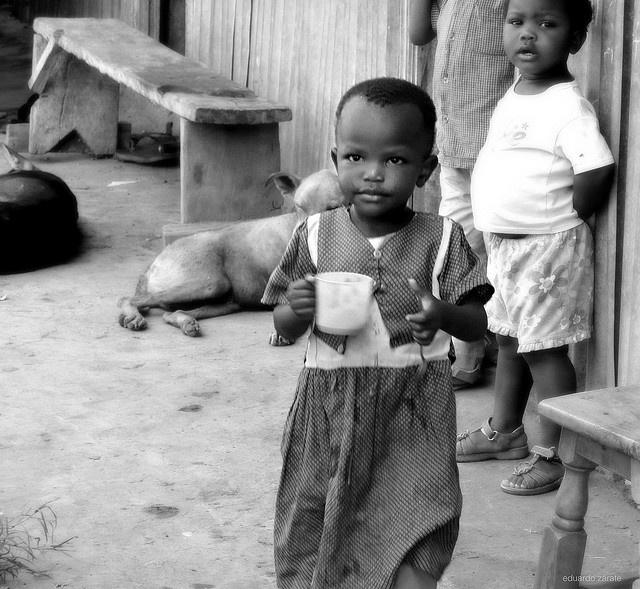 Child eating porridge. Nairobi