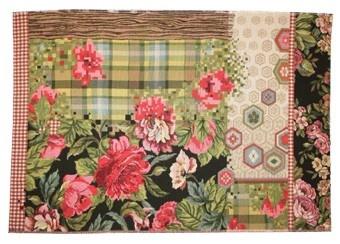 fantastisch tapijt met bloemen 140x210