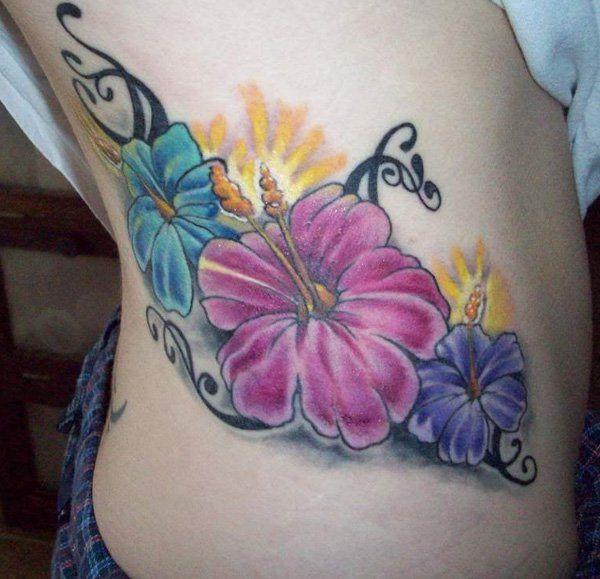 Hibiscus tattoo - 40 Magnificent Hibiscus Flower Tattoos  <3 !