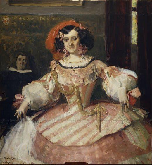 """Joaquín Sorolla. """"La actriz María Guerrero como """"La dama boba""""""""(1906)"""