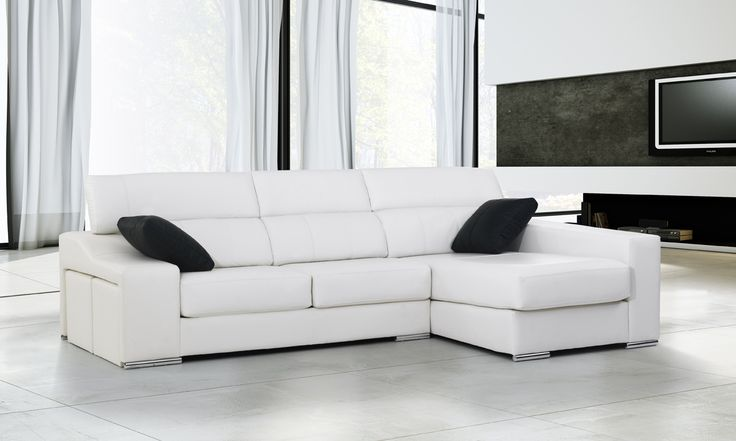 Chaislongue leo piel sofas pinterest leo - Fundas de sofa con cheslong ...
