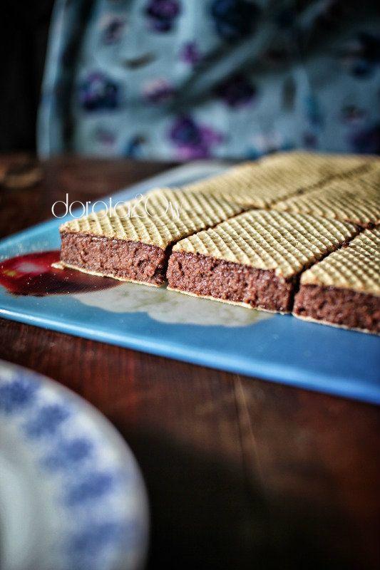 Stefania na waflach – ciasto z kaszy manny bez ...