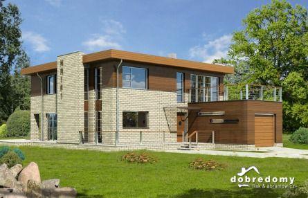 Soho<3 bardzo nowoczesny projekt domu z płaskim dachem #modernhouse