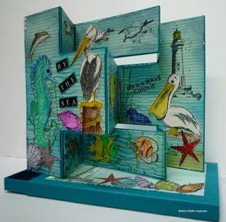 BaRb'n'ShEll Creations-By the Sea card, Kaszazz - BaRb