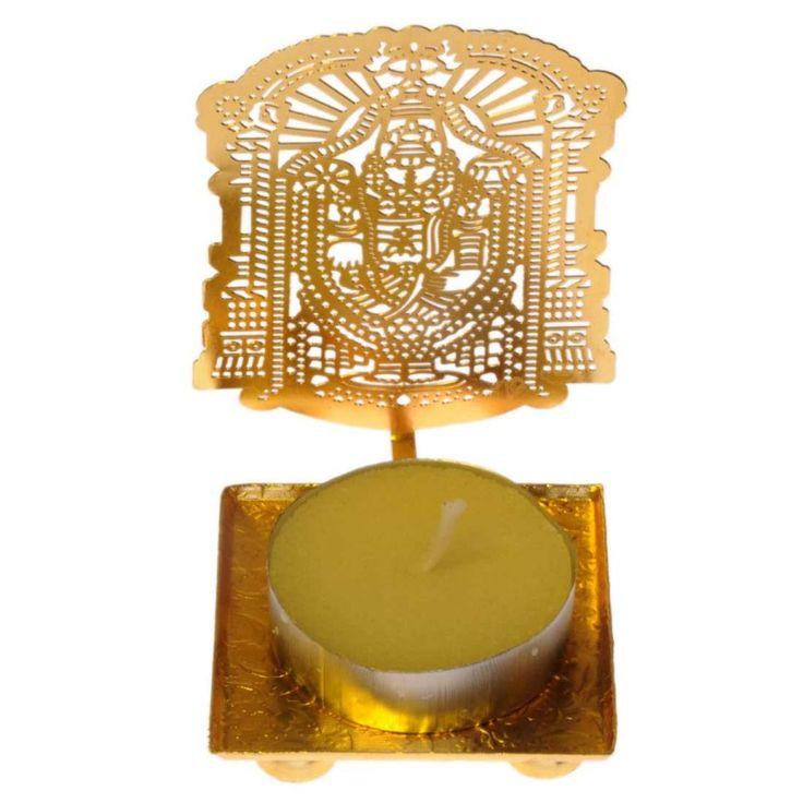 Maayra Classic Lord Balaji Gold Machine Cutting Work Festive Diya with Waxhttp://goo.gl/3MIZct