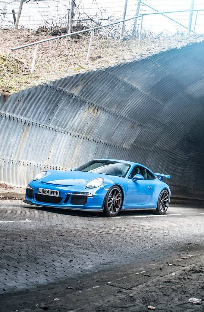 Porsche 911 GT3. Not normally that keen on blue cars. Wouldn't be complaining here though