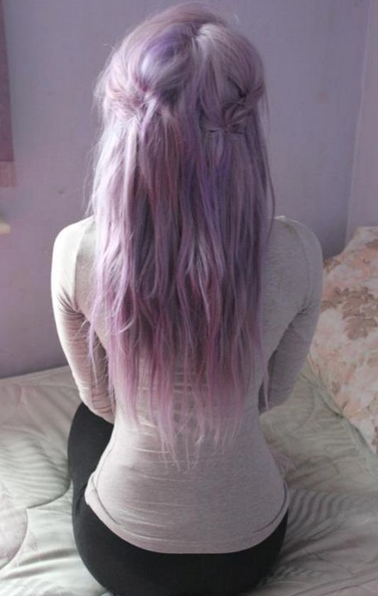 lilac hair, I'm obsessed