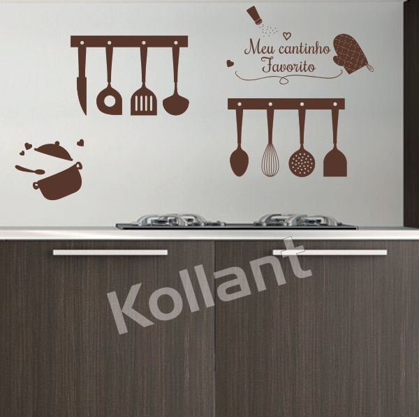Adesivo Cozinha Cantinho Favorito - Kollant Adesivos