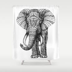 Ornate Elephant Shower Curtain