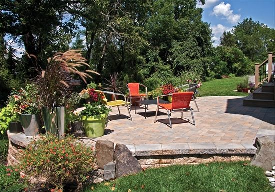 how to clean cobble stone patio