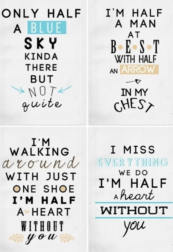 One Direction - Half A Heart lyrics | ♡ l ʏ r ι c ѕ ...
