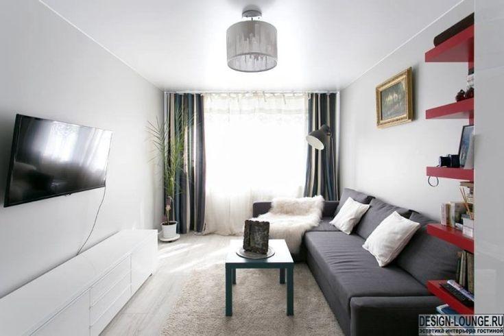 дизайн жилой комнаты в хрущевке угловой диван - Поиск в Google