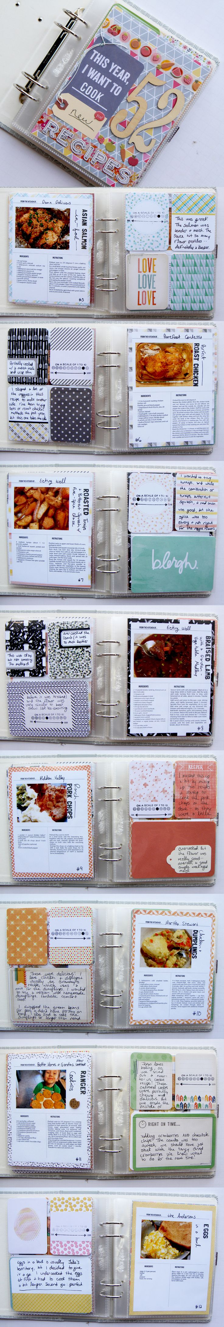 33 creative scrapbook ideas every crafter should know diy projects - 52 Recipes Minibook Project From The Nerd Nest