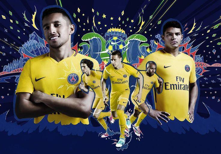 Camisa reserva do PSG 2017-2018 Nike