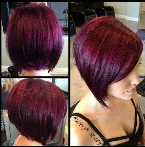 Houd jij ook zo van een Aubergine haarkleur? Dan moet je deze korte modellen eens zien in die geweldige warme kleur! - Pagina 5 van 10 - Kapsels voor haar