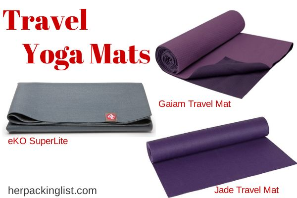 Great info here. I always plan to do yoga when I travel but never have room in my luggage for a mat. The best on this list is a non skid towel you can use instead >>> has anyone used a non skid towel to do yoga or pilates? I think i'm going to get this but would love to know what you think of it. :)