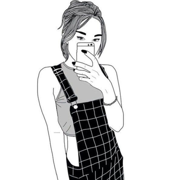 Картинки для срисовки девушки в стиле тумблер в полный рост