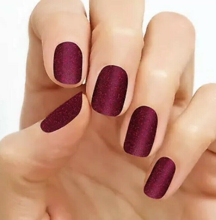 Retired Color Street Rio Red New Sealed Nail Polish Strips Glitter Grey Acrylic Nails Christmas Nails Acrylic Coffi Color Street Nails Nail Polish Manicure