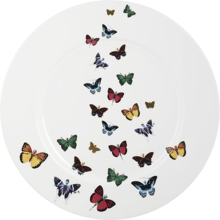 "Beautiful 13"" Platter Plate taken from the 'Lepidoptera' collection. Designed by famous singer Maxim from The Prodigy, this plate is full of colour, detail and hidden surprises. Based on imagery drawn from his wonderful paintings, this range features an array of unusual creatures. Each distinctive, each imbued with its own characteristics but all sharing the species' unique combination of delicacy and strength. Fine Bone China. 22kt Gold Accents. Made in Stoke-on-Trent, England. Find out…"