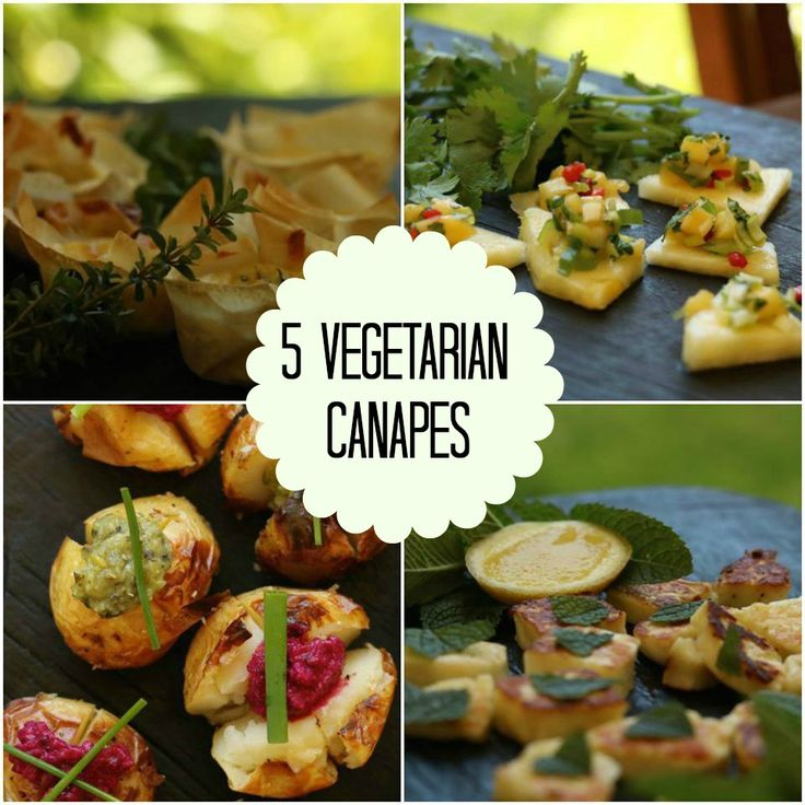5 simple and delicious vegetarian canapés for entertaining