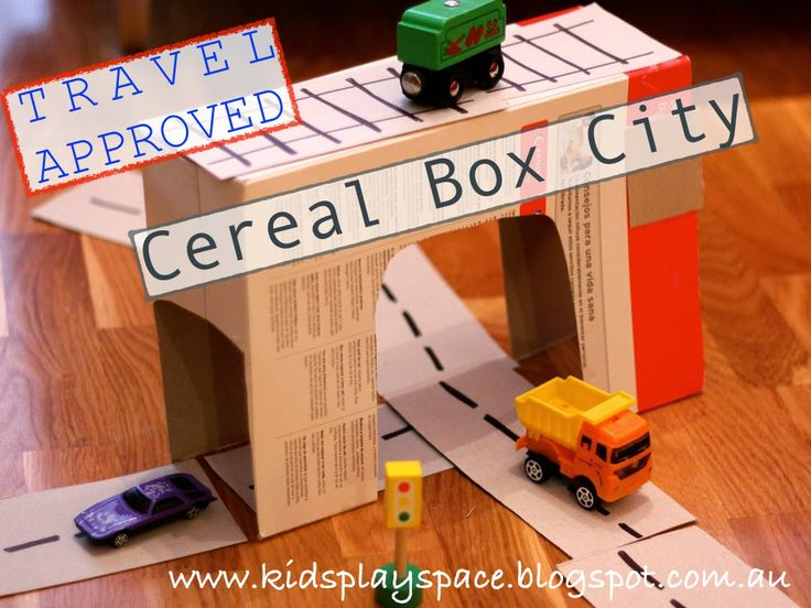 Cereal Box City - Travel Approved (Made in 5 mins whilst on holidays, as house guests with a friend who has no kids/ 'toys')... By Kids Play Space