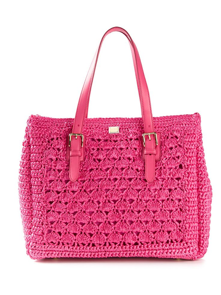 DOLCE & GABBANA - crochet knit tote 7