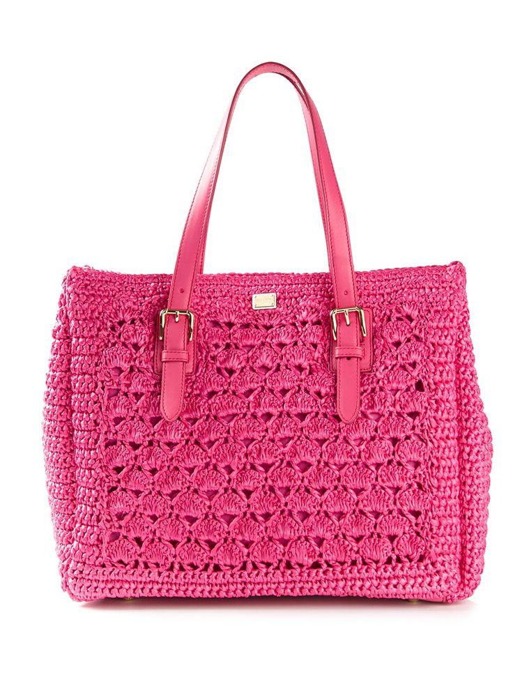 Dolce  Gabbana Crochet Knit Tote