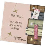 "Moderne Save the Date Karten ""Flitterwochen"""