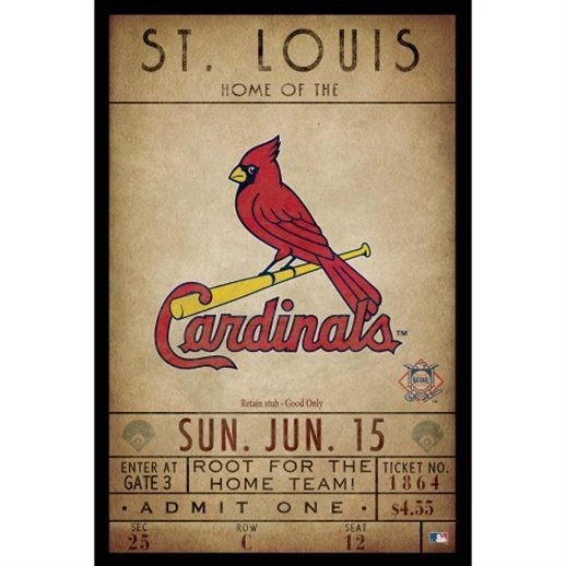 St. Louis Cardinals 12'' x 18'' Classic Ticket Wall Decor