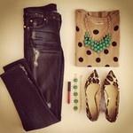 Mix up polka dots with the Stella & Dot Jolie Necklace & Zinnia Bracelet. Shop www.stelladot.com/sites/rachelhart