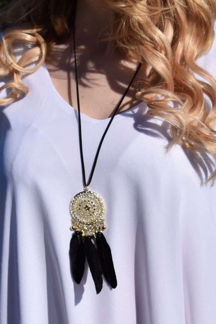 Dreamcatcher necklace, shop now