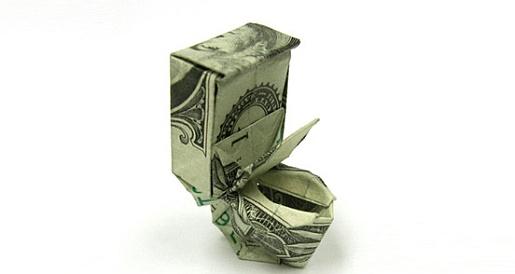 Dollaro in bagno.
