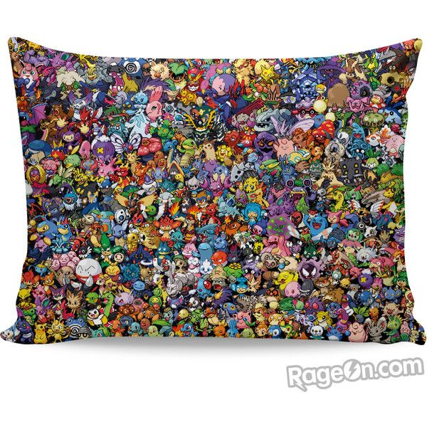 Pokemon Collage Pillow Case ($15) ❤ liked on Polyvore featuring home, bed & bath, bedding and bed sheets