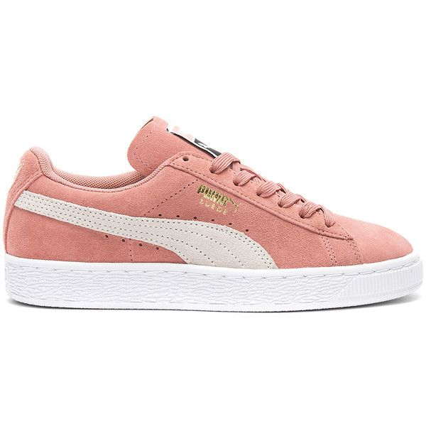 Puma Suede Classic Sneaker ($65) ❤ liked on Polyvore featuring shoes, sneakers, laced sneakers, rubber sole shoes, lace up sneakers, suede sneakers and puma sneakers