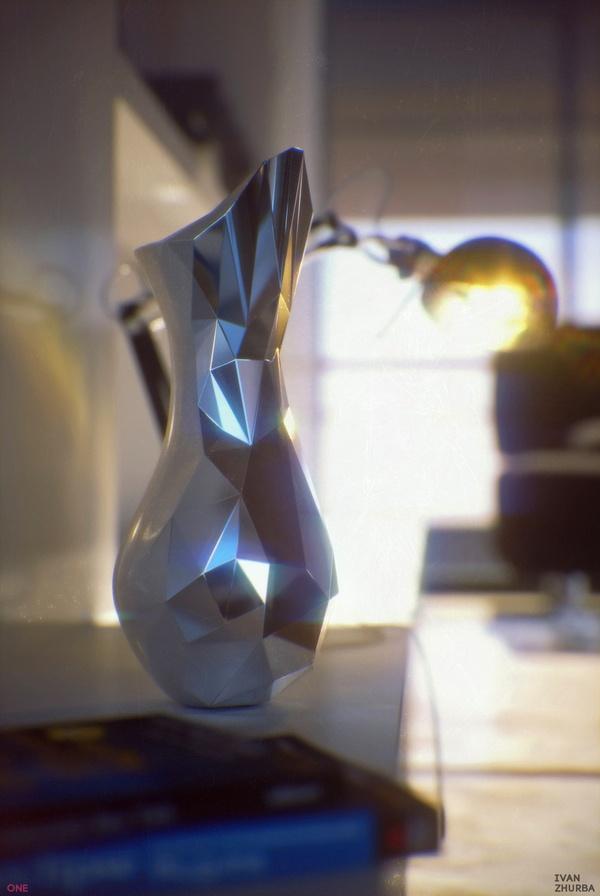 Crystal Vase by Ivan Zhurba, via Behance