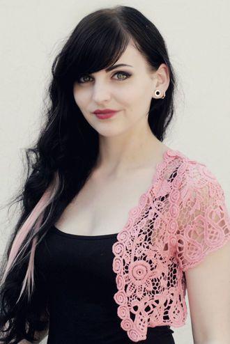 Hempeää pitsiä #lace #crochet #pink #pastel #vest #cybershop #fashion
