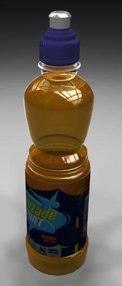 3D Bottle Lucozade - 3D Model