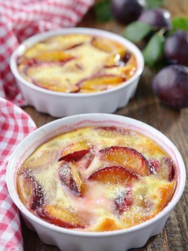Clafoutis aux brugnons. Dessert - Végétarien Facile Bon marché