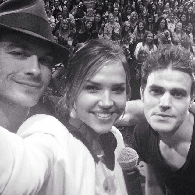Arielle Kebbel with Ian and Paul. 12/15/13 They are all such amazing actors and really amazing!!!