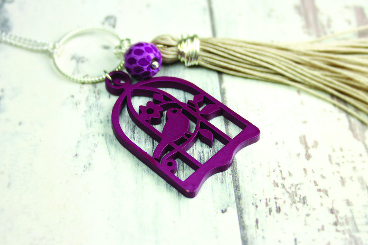 Birdcage pendants from Burhouse Beads