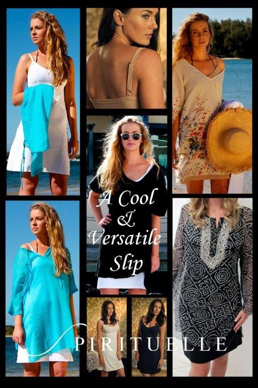 "Marielle 'Slip Dress"" by Spirituelle at the beach great under kaftans, resort wear and all things sheer!"
