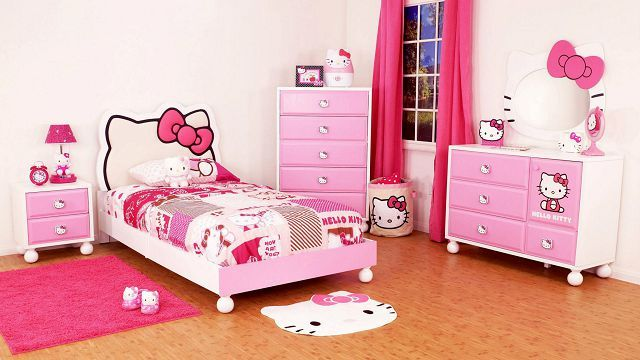 Very pretty hello kitty bedroom decor idea ♥