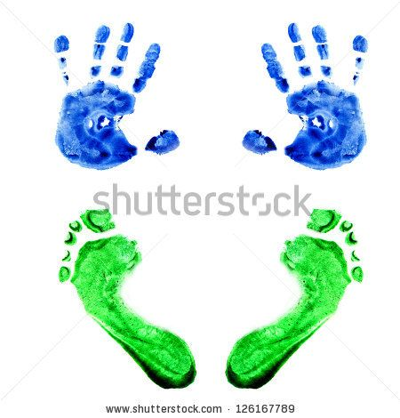 Baby Handprints | Baby Handprint Stock Photos, Illustrations, and Vector Art
