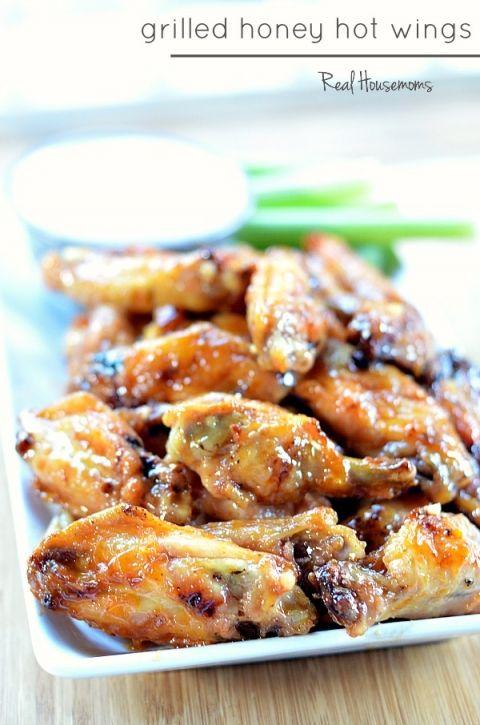 Grilled Honey Hot Wings | Real Housemoms