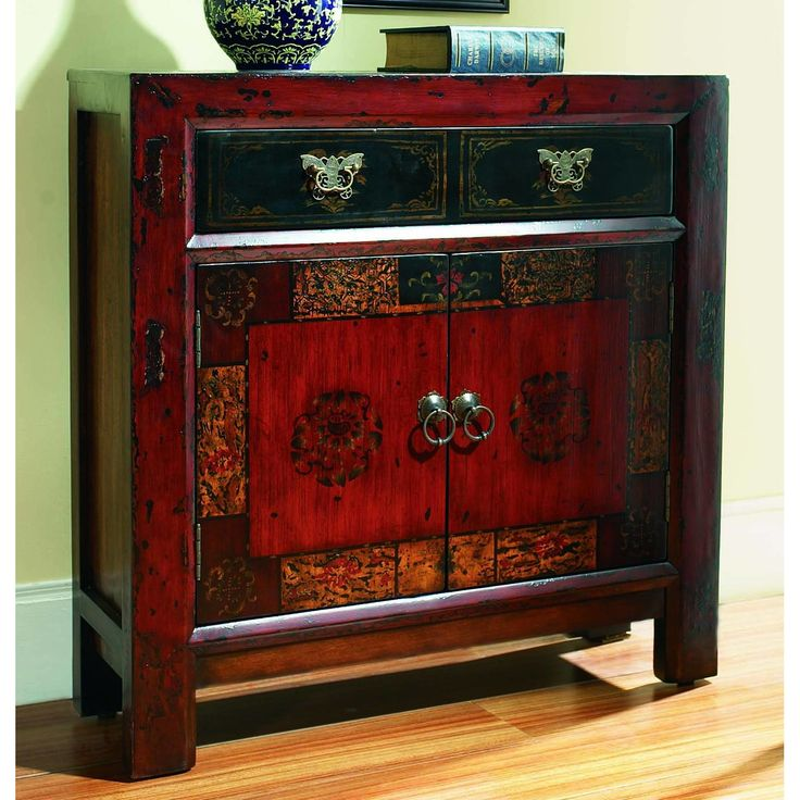 Hooker Furniture Asian 2 Door/1 Drawer Hall Chest