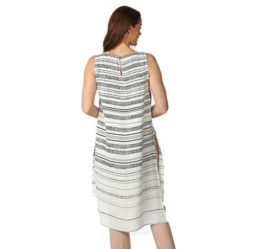Vince Camuto Sleeveless Pebble Stripe Tunic With Side Slits