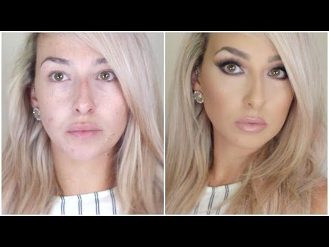 DRUGSTORE long lasting, flawless full coverage foundation routine (not cakey) - YouTube