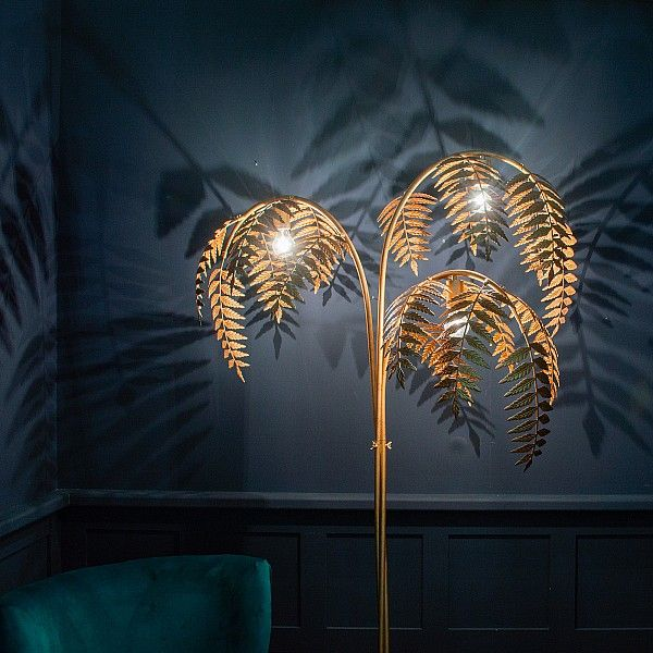 Unusual Home Accessories Audenza Floor Lamp Gold Home