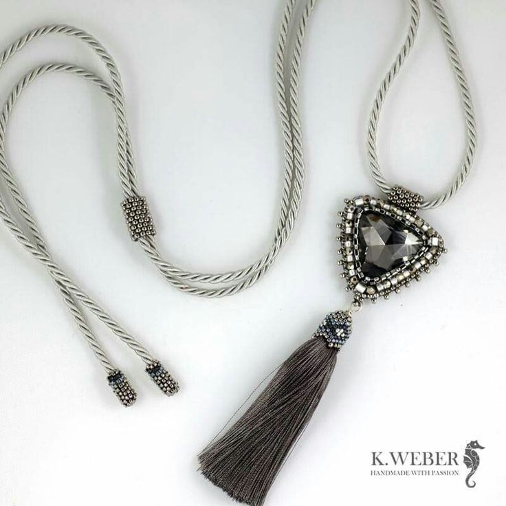 Beaded triangle crystal. http://arsneo.pl/tworcy/kathrinweber.html