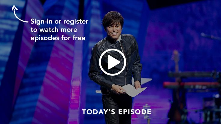 Watch Today's Broadcast by Joseph Prince.